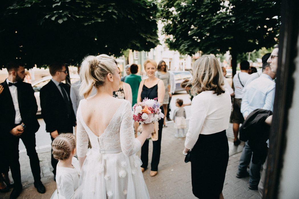 Bride waiting for groom before ceremony in Novi Sad