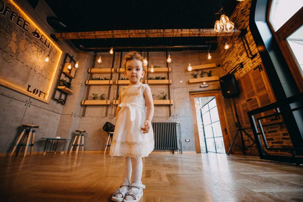 Little girl in Loft Lounge and Bar Novi Sad