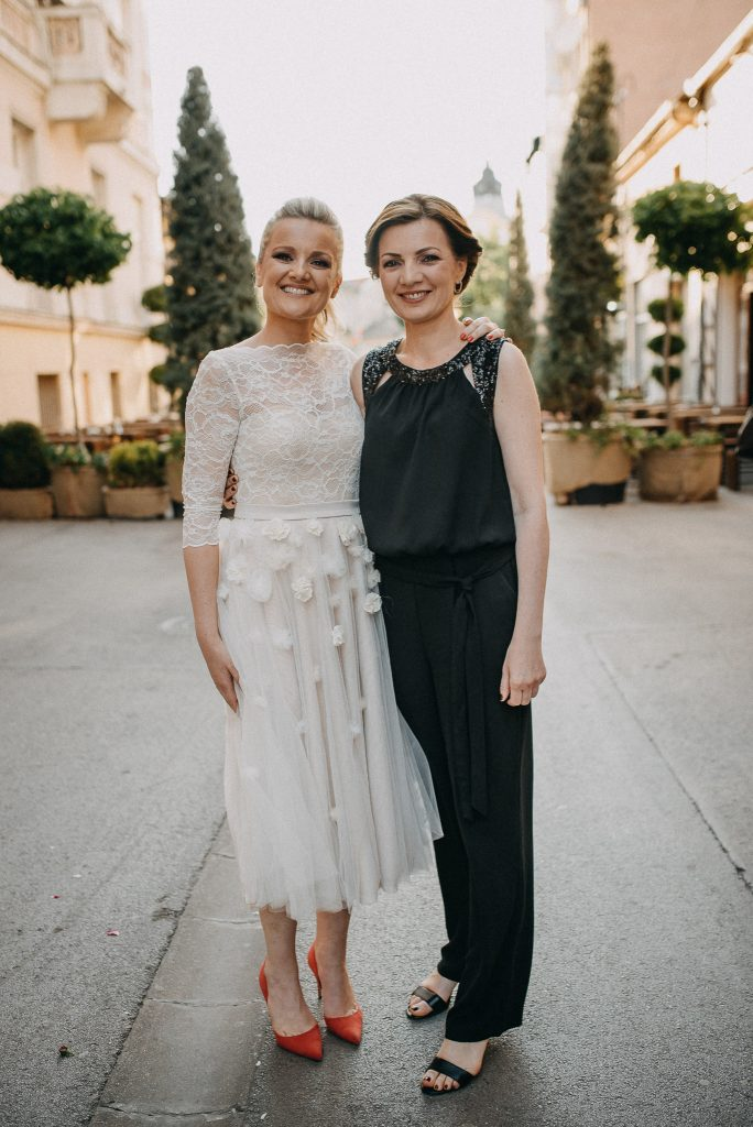 Bride with sister in Novi Sad