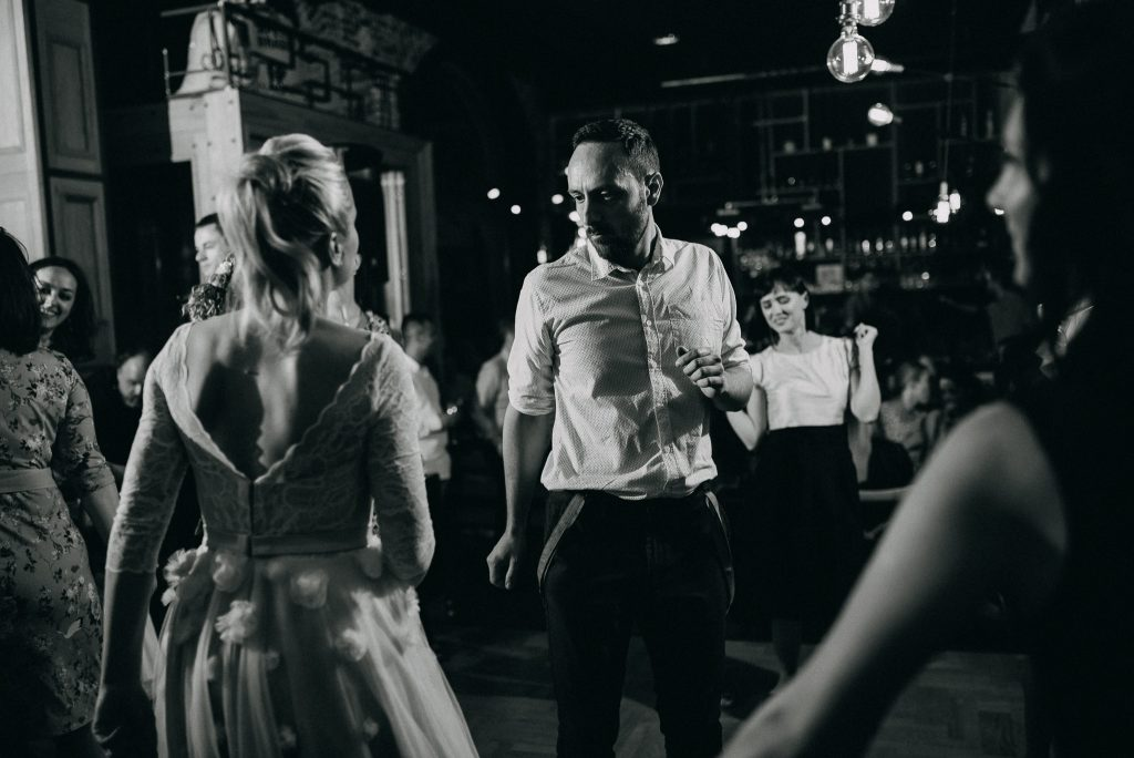 Bride and groom dancing in Loft Lounge and Bar Novi Sad