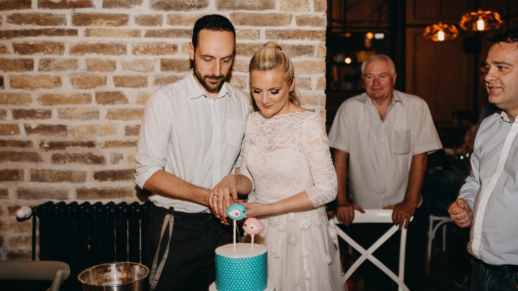 Bride and Groom in Loft Lounge and Bar Novi Sad