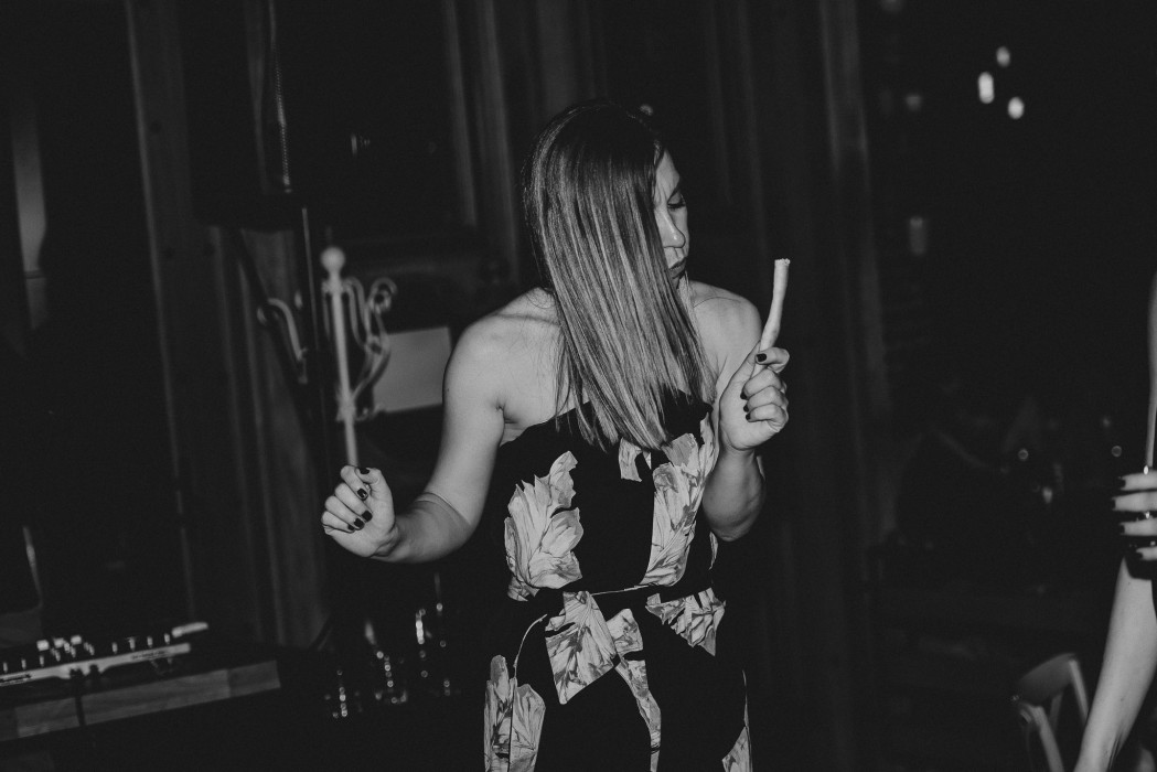 Girl dancing in loft lounge and bar novi sad